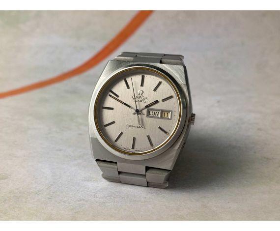 OMEGA SEAMASTER QUARTZ 1977 Reloj suizo vintage de cuarzo Ref. ST 196.0089 Cal. 1345 *** OVERSIZE ***