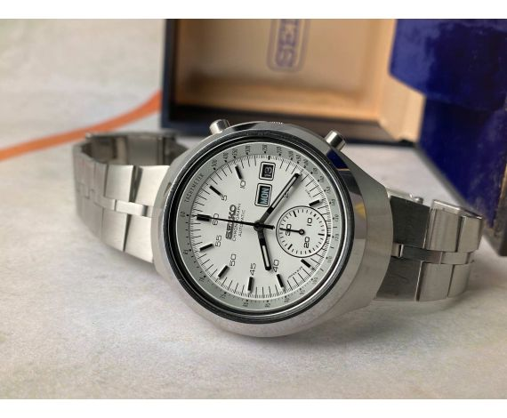 SEIKO HELMET Vintage automatic chronograph watch Ref. 6139-7101 Cal. 6139 + BOX *** SPECTACULAR CONDITION ***