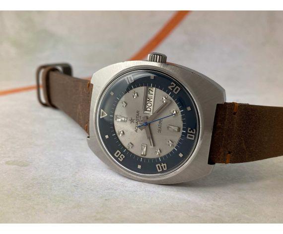 AQUASTAR SA GENÈVE SEATIME Vintage swiss automatic DIVER watch AS 1906 Ref. 1007 ROTATING INTERNAL BEZEL *** OVERSIZE ***