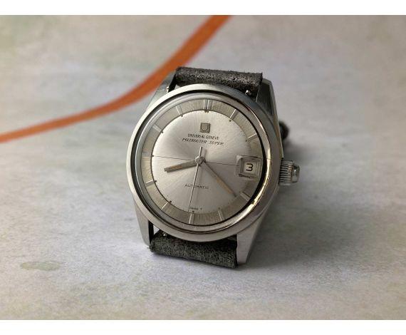 UNIVERSAL GENEVE POLEROUTER SUPER 1967 Reloj suizo vintage automático Cal. 1-69 MICROTOR Ref 869112/03 *** PRECIOSO ***