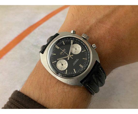 CAMY GENEVE Reloj Cronógrafo suizo vintage de cuerda Cal. Landeron 248 Estilo BREITLING TOP TIME *** PANDA REVERSO ***