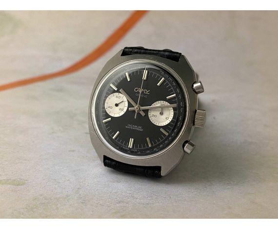 CAMY GENEVE Vintage swiss hand winding chronograph watch Cal. Landeron 248 BREITLING TOP TIME Style *** REVERSE PANDA ***