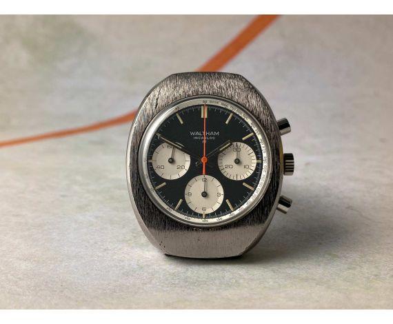 WALTHAM Swiss vintage manual winding chronograph watch Cal. Valjoux 7736 *** PANDA REVERSE DIAL ***