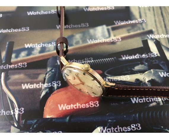 Longines Cal. 490 reloj antiguo suizo de cuerda Plaqué Or 20 microns