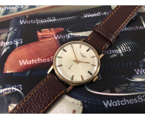 Longines Cal. 490 vintage hand winding swiss watch Plaqué Or 20 microns