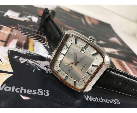 EDOX New era reloj antiguo suizo automático OVERSIZE