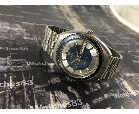 Vintage swiss watch Zodiac automatic SST 36000 Blue dial