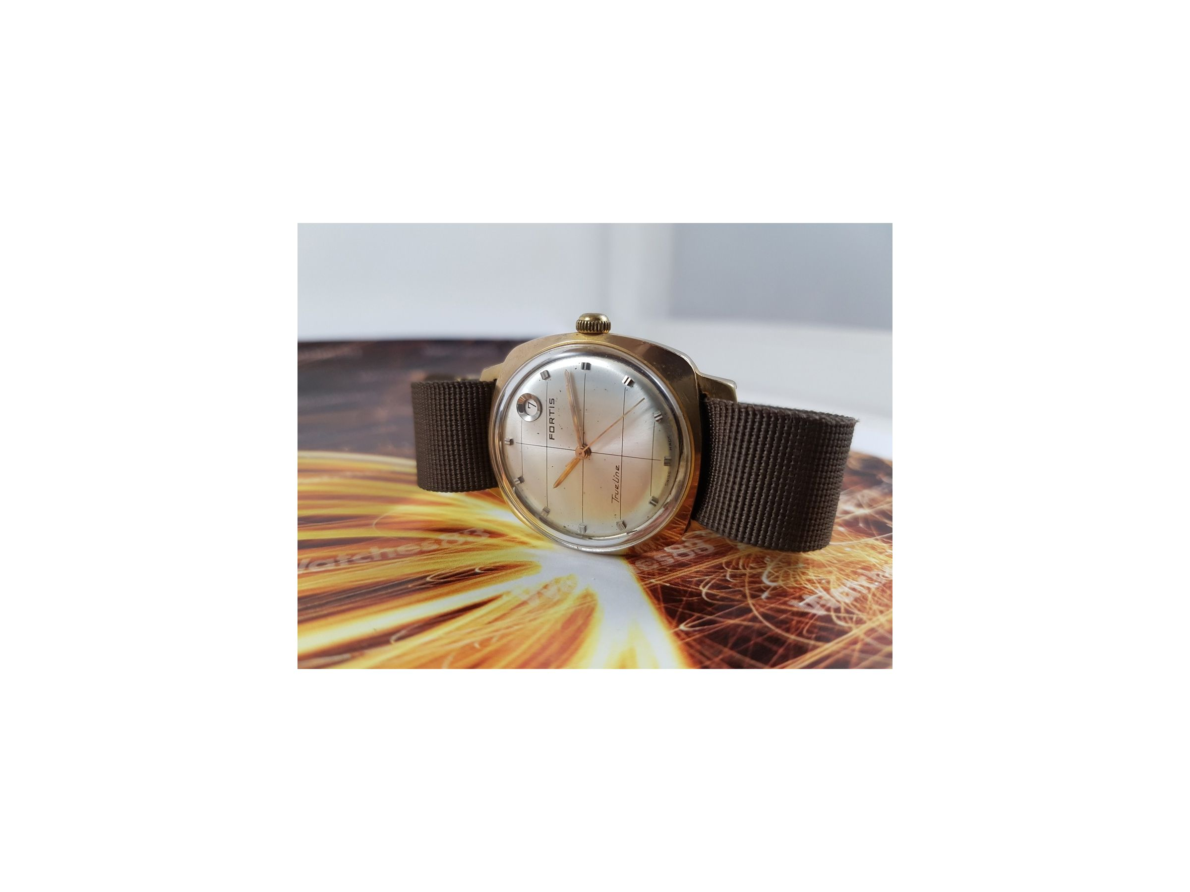 95770c9dd6c1 Reloj antiguo suizo Fortis True Line automático PRECIOSO Plaqué OR ...