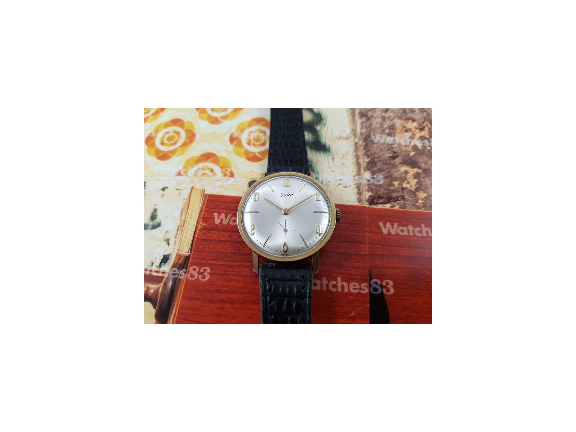 eska Array - vintage manual winding swiss watch eska plaqu or eska vintage  rh watches83 com