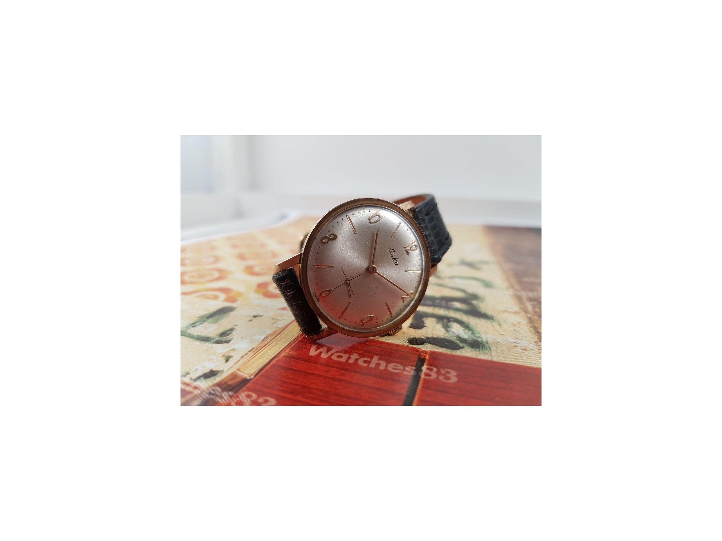 Plaqué Reloj Suizo Eska Or Antiguo Cuerda Watches83 De ZiwOPkTlXu