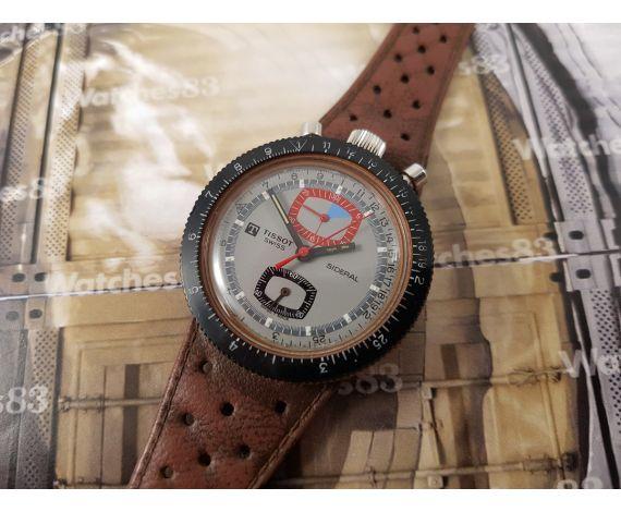 Reloj cronógrafo suizo antiguo de cuerda Tissot Sideral bullhead DIVER