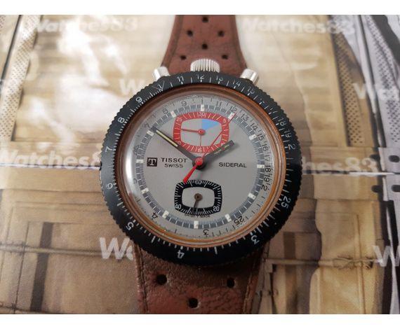 Vintage swiss chronograph watch Tissot Sideral manual winding Bullhead DIVER