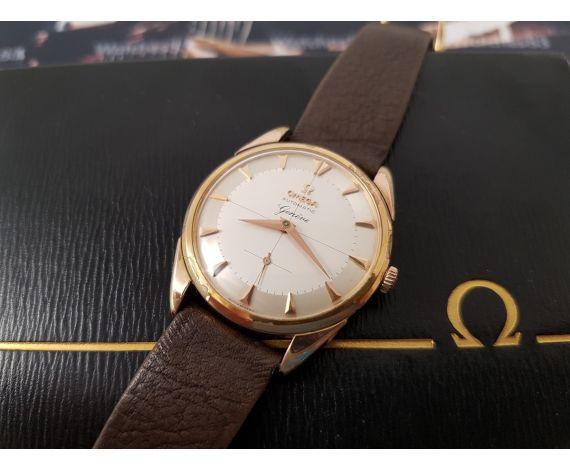 Omega Geneve automático reloj vintage dorado Cal 491 Ref 2981-2 + ESTUCHE