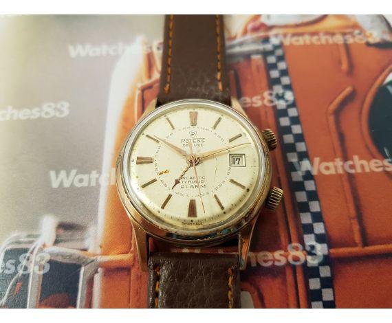 Reloj Alarma antiguo de cuerda Potens De Luxe