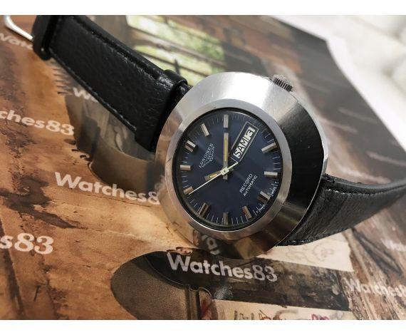 Reloj antiguo Longines Record Automatic azul Gigante