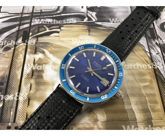 Reloj suizo automático PATIC 25 jewels Diver Blue