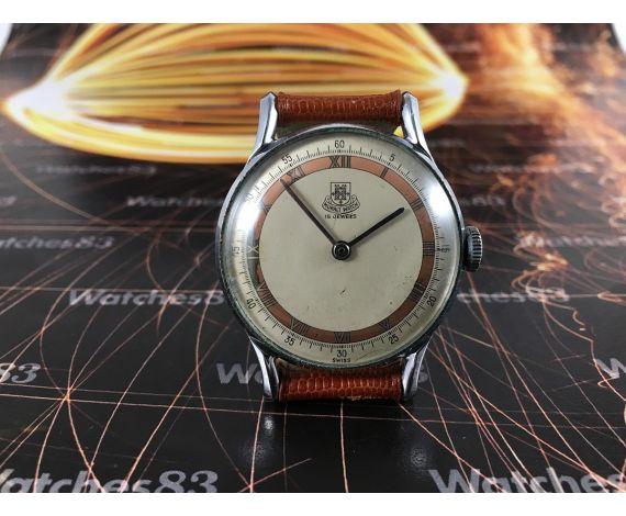 MURAL WATCH Reloj antiguo suizo de cuerda 15 jewels. COLECCIONISTAS!!!