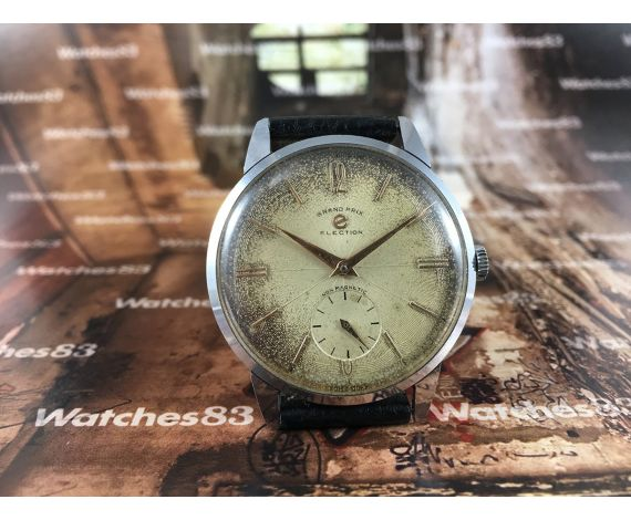 ELECTION Grand Prix vintage swiss watch manual winding 17 jewels Oversize *** COLLECTORS ***